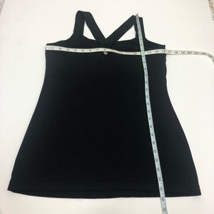 lululemon athletica Tops - Lululemon Spell Out Logo Straps Tank Top